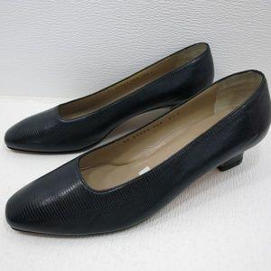 Salvatore Ferragamo Lizard Leather Pump Heel 9.5 C